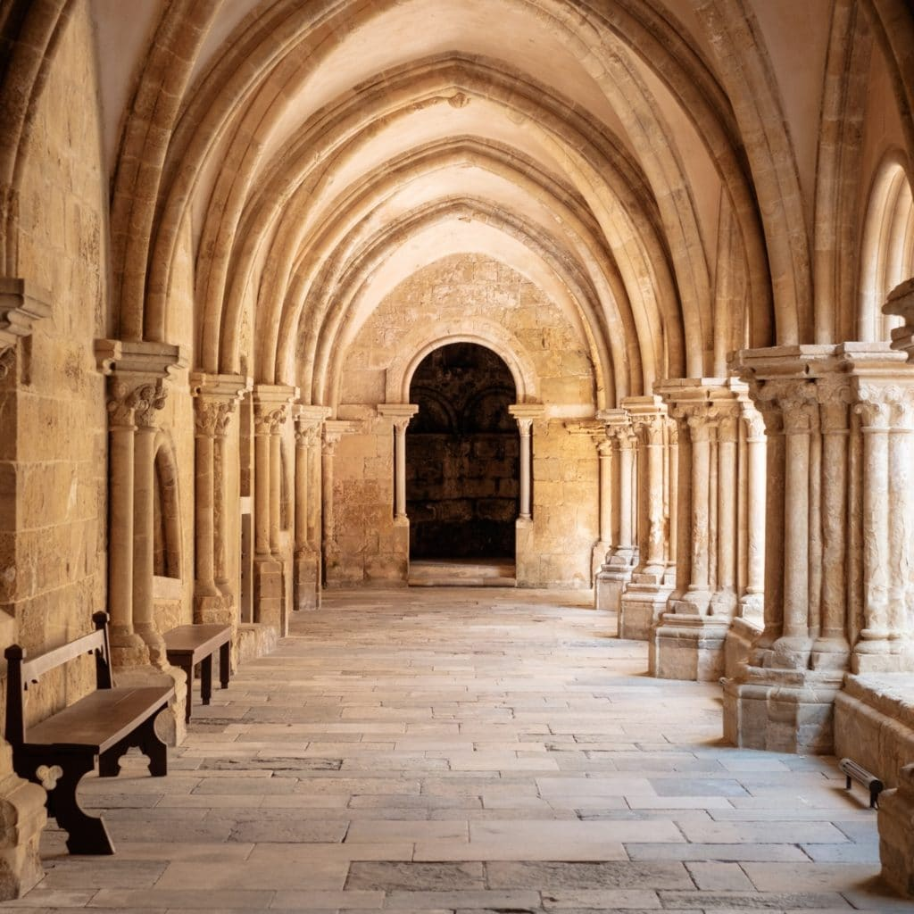 stone arches repeating