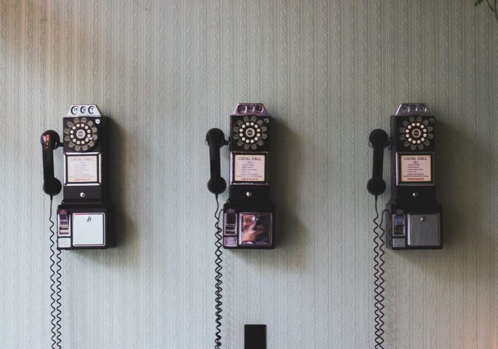 old fashioned phones on the wall #57
