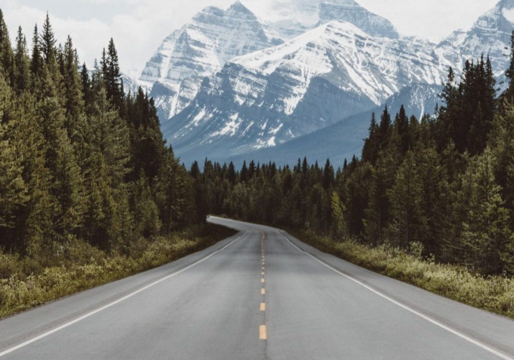 highway into the mountains